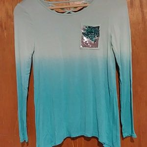 Sea blue faded shirt from Justice